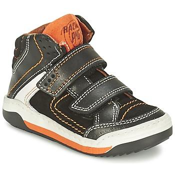 Schoenen Jongens Hoge sneakers Primigi MOTT Zwart / OranJe