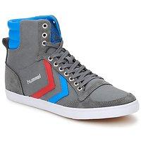 Schoenen Hoge sneakers Hummel TEN STAR HIGH CANVAS Grijs / Blauw / Rood