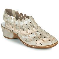 Schoenen Dames Sandalen / Open schoenen Rieker ROBERTO Zilver
