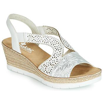 Schoenen Dames Sandalen / Open schoenen Rieker PASCALINE Wit
