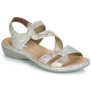 Schoenen Dames Sandalen / Open schoenen Rieker AMAZU Zilver