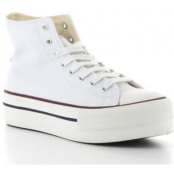 Schoenen Dames Hoge sneakers Victoria TRIBU DOBLE 1061101 blanc