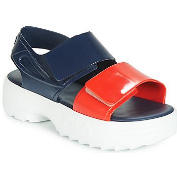 Schoenen Dames Sandalen / Open schoenen Melissa SANDAL + FILA Marine / Rood / Wit