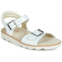 Schoenen Meisjes Sandalen / Open schoenen Clarks Crown Bloom K Wit