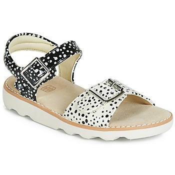 Schoenen Meisjes Sandalen / Open schoenen Clarks Crown Bloom K Zwart
