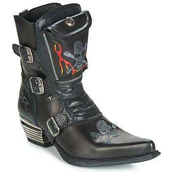 Schoenen Heren Hoge laarzen New Rock M-WST024-S3 Zwart