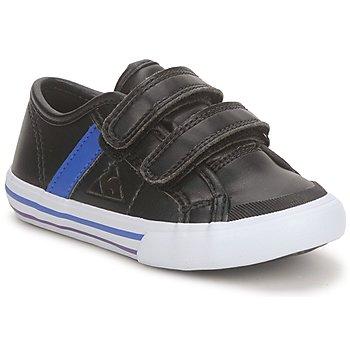 Schoenen Jongens Lage sneakers Le Coq Sportif SAINT MALO Zwart / Blauw