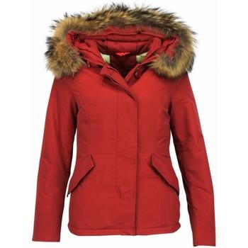 Textiel Dames Dons gevoerde jassen Thebrand Korte Winterjas Bontkraag Rood