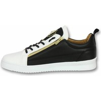 Schoenen Heren Lage sneakers Cash Money Heren Schoenen - Heren Sneaker Bee Black White Gold - CMS97 1