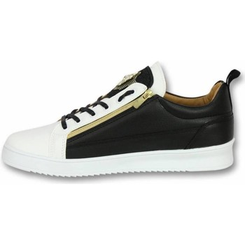 Schoenen Heren Lage sneakers Cash Money Schoenen - Sneaker Bee Black White Gold - Zwart, Wit