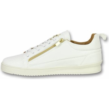 Schoenen Heren Lage sneakers Cash Money Heren Schoenen - Heren Sneaker Bee White Gold - CMS97 1