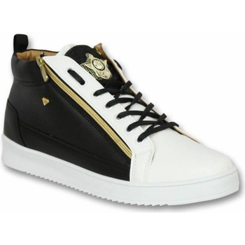 Schoenen Heren Sneakers Cash Money Schoenen - Sneaker Bee Black White Gold - Zwart, Wit