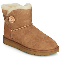 Schoenen Dames Laarzen UGG MINI BAILEY BUTTON II Camel