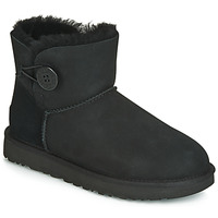Schoenen Dames Laarzen UGG MINI BAILEY BUTTON II Zwart