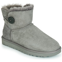 Schoenen Dames Laarzen UGG MINI BAILEY BUTTON II Grijs