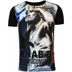 Textiel Heren T-shirts korte mouwen Local Fanatic The Eagle Nurmagomedov Men's UFC Khabib Zwart