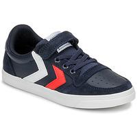 Schoenen Kinderen Lage sneakers Hummel SLIMMER STADIL LEATHER LOW JR Blauw
