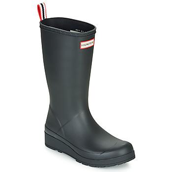Schoenen Dames Regenlaarzen Hunter ORIGINAL PLAY BOOT TALL Zwart