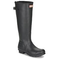 Schoenen Dames Regenlaarzen Hunter ORIGINAL BACK ADJUSTABLE Zwart