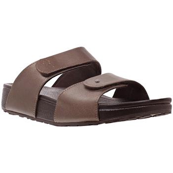 Schoenen Dames Leren slippers Joya Vienna Bronze 534