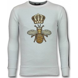 Textiel Heren Sweaters / Sweatshirts Tony Backer Flock Print Trui - Royal Bee Sweater - Wit