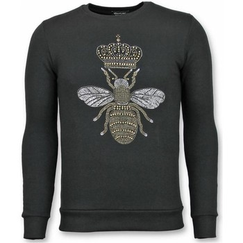 Textiel Heren Sweaters / Sweatshirts Tony Backer Rhinestone Trui - Master Bee Sweater - Zwart