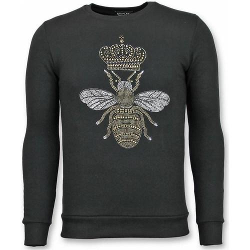 Textiel Heren Sweaters / Sweatshirts Tony Backer Rhinestone Master Bee Zwart