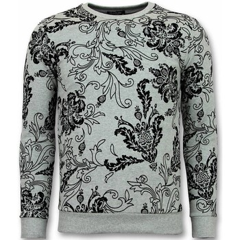 Textiel Heren Sweaters / Sweatshirts Tony Backer Flockprint Trui - Bladeren Sweater - Grijs