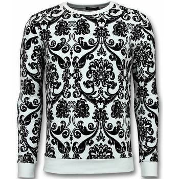 Textiel Heren Sweaters / Sweatshirts Tony Backer Flockprint Trui - Bladeren Sweater - Zwart, Wit
