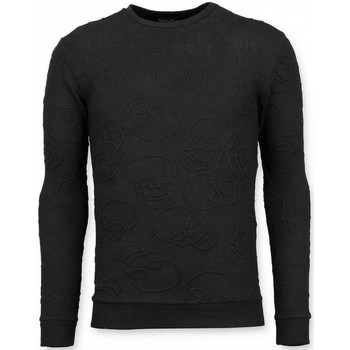 Textiel Heren Sweaters / Sweatshirts Tony Backer Skull Print Trui - Death's Head Sweater - Zwart