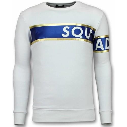 Textiel Heren Sweaters / Sweatshirts Tony Backer Stripe Color Trui - Squad-93 Sweater - Wit