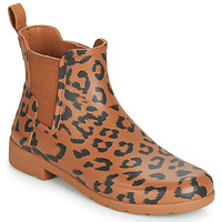 Schoenen Dames Regenlaarzen Hunter ORG REFINED CHELSEA HYBRD PRNT Luipaard