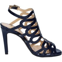 Schoenen Dames Sandalen / Open schoenen Olga Rubini sandali blu vernice BS91 Blu