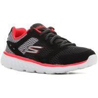 Schoenen Kinderen Running / trail Skechers Go Run 400 97681L-BGRD black, red, grey