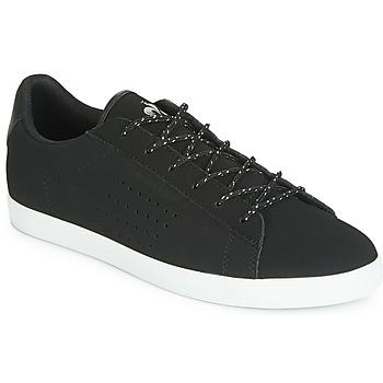 Schoenen Dames Lage sneakers Le Coq Sportif AGATE NUBUCK Zwart / Zilver