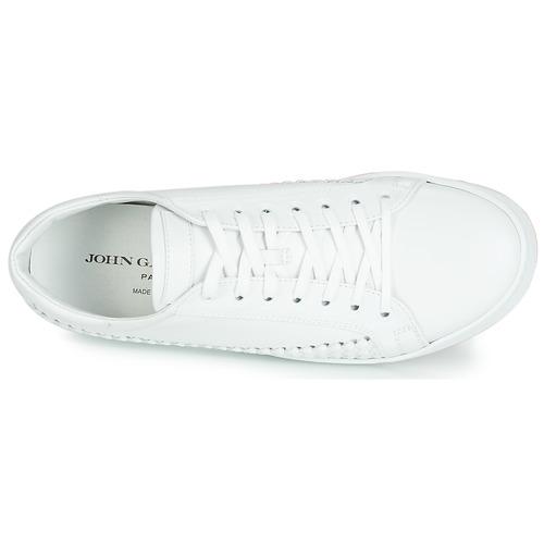 6712  John Galliano  lage sneakers  heren  wit