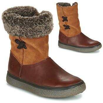 Schoenen Meisjes Laarzen GBB OLINETTE Bruin