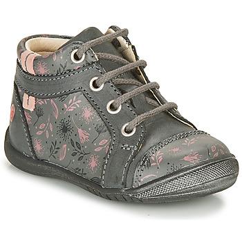 Schoenen Meisjes Laarzen GBB OMANE Grijs / Roze