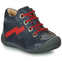 Schoenen Jongens Laarzen GBB ORAM Marine / Rood