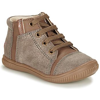 Schoenen Meisjes Hoge sneakers GBB OUNA Taupe