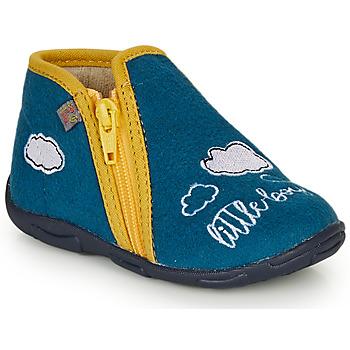 Schoenen Jongens Sloffen GBB OUBIRO Blauw / Geel