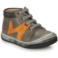 Schoenen Jongens Hoge sneakers GBB OLINOU Grijs / Oker
