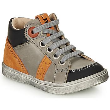 Schoenen Jongens Hoge sneakers GBB ANGELITO Grijs / Oranje
