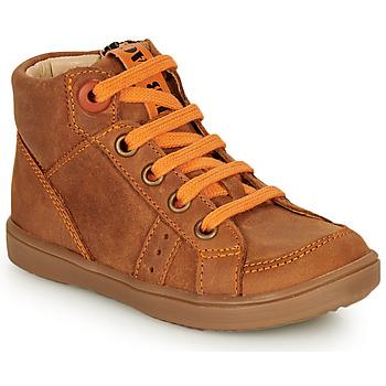 Schoenen Jongens Hoge sneakers GBB ANGELITO Cognac / Oranje