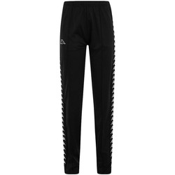 Textiel Broeken / Pantalons Kappa ADEV BLACK WHITE Negro