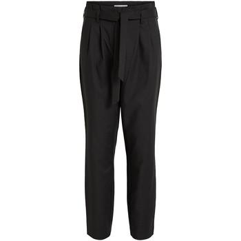 Textiel Dames Broeken / Pantalons Vila VISOFINA HW 7/8 PANT-NOOS Negro