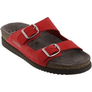 Schoenen Dames Leren slippers Mephisto HARMONY Rood leerkoraal