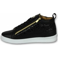 Schoenen Heren Hoge sneakers Cash Money Croc Black Gold Zwart