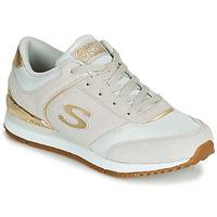 Schoenen Dames Lage sneakers Skechers SUNLITE Grijs / Goud