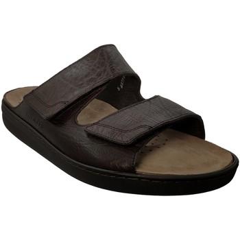 Schoenen Heren Leren slippers Mobils By Mephisto JAMES Bruin leer